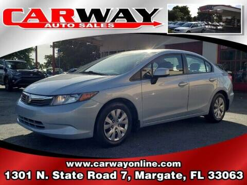 2012 Honda Civic for sale at CARWAY Auto Sales in Margate FL