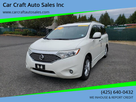 2011 Nissan Quest for sale at Car Craft Auto Sales Inc in Lynnwood WA