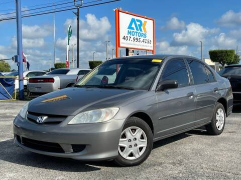 2005 Honda Civic for sale at Ark Motors in Orlando FL
