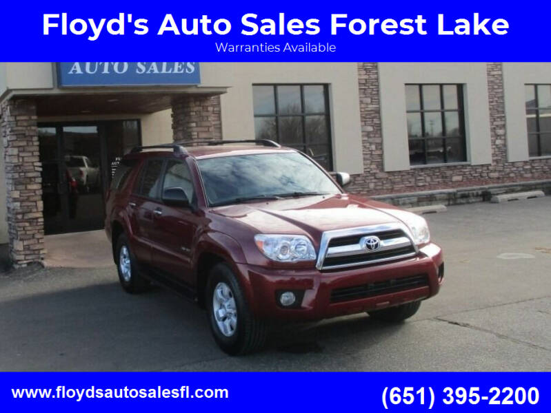 2008 Toyota 4Runner for sale at Floyd's Auto Sales Forest Lake in Forest Lake MN