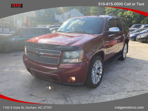 2009 Chevrolet Tahoe for sale at CRAIGE MOTOR CO in Durham NC