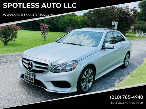 2014 Mercedes-Benz E-Class for sale at SPOTLESS AUTO LLC in San Antonio TX