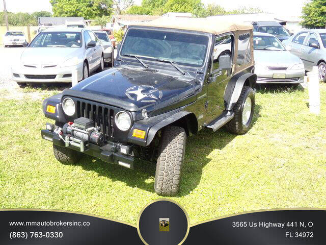 2000 Jeep Wrangler for sale at M & M AUTO BROKERS INC in Okeechobee FL