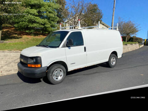 2004 Chevrolet Express Cargo for sale at 4 Below Auto Sales in Willow Grove PA