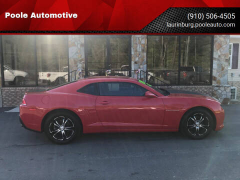 2015 Chevrolet Camaro for sale at Poole Automotive in Laurinburg NC