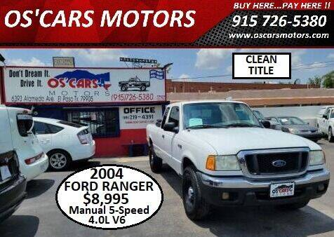 2004 Ford Ranger for sale at Os'Cars Motors in El Paso TX