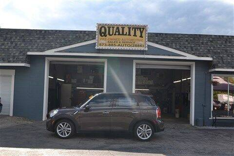 2011 MINI Cooper Countryman for sale at Quality Pre-Owned Automotive in Cuba MO