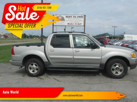 2004 Ford Explorer Sport Trac for sale at Auto World in Carbondale IL