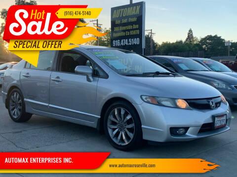 2009 Honda Civic for sale at AUTOMAX ENTERPRISES INC. in Roseville CA