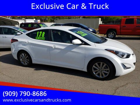 2016 Hyundai Elantra for sale at Exclusive Car & Truck in Yucaipa CA