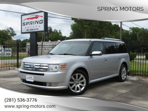 2010 Ford Flex for sale at Spring Motors in Spring TX