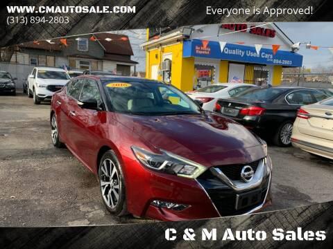 2016 Nissan Maxima for sale at C & M Auto Sales in Detroit MI
