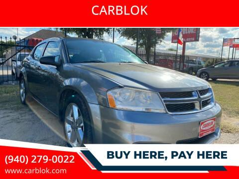 2012 Dodge Avenger for sale at CARBLOK in Lewisville TX