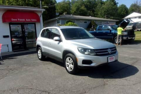 2016 Volkswagen Tiguan for sale at Dave Franek Automotive in Wantage NJ