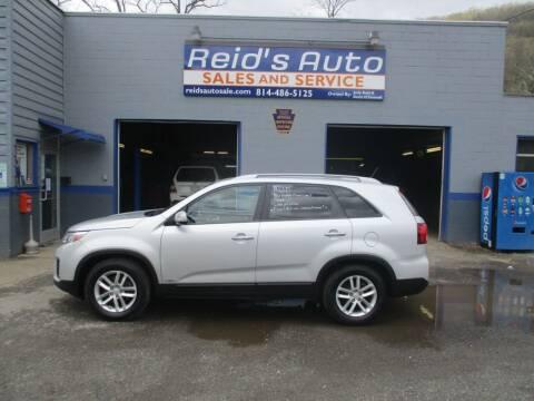 2014 Kia Sorento for sale at Reid's Auto Sales & Service in Emporium PA
