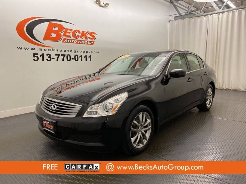 2009 Infiniti G37 Sedan for sale at Becks Auto Group in Mason OH