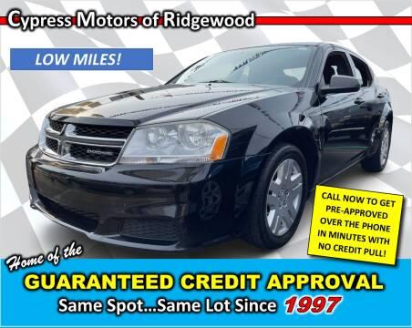 2011 Dodge Avenger for sale at Cypress Motors of Ridgewood in Ridgewood NY