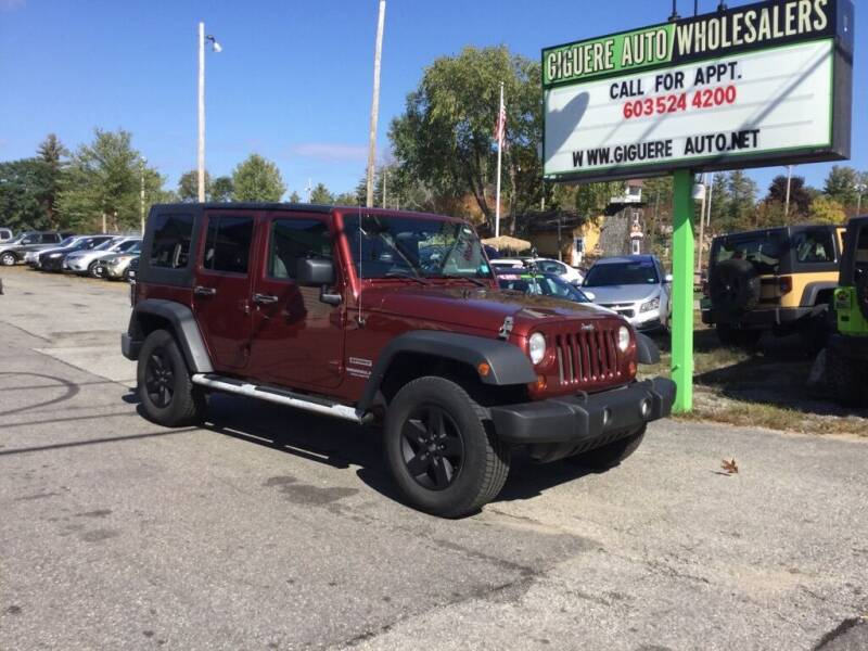 2010 Jeep Wrangler Unlimited for sale at Giguere Auto Wholesalers in Tilton NH