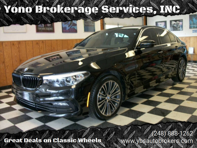 2018 BMW 5 Series for sale at Yono Brokerage Services, INC in Farmington MI