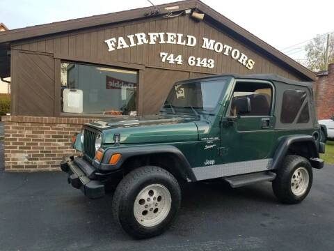 1999 Jeep Wrangler for sale at Fairfield Motors in Fort Wayne IN