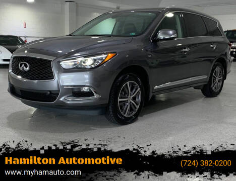 2017 Infiniti QX60 for sale at Hamilton Automotive in North Huntingdon PA