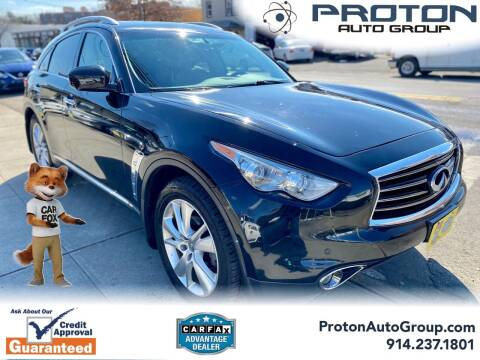 2013 Infiniti FX37 for sale at Proton Auto Group in Yonkers NY