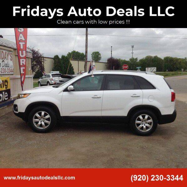 2011 Kia Sorento for sale at Fridays Auto Deals LLC in Oshkosh WI