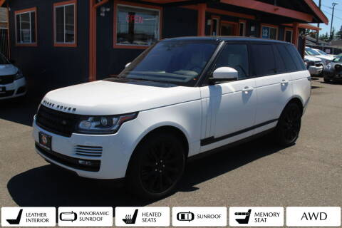 2017 Land Rover Range Rover for sale at Sabeti Motors in Tacoma WA