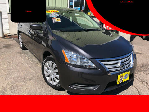 2014 Nissan Sentra for sale at L A Used Cars in Abington MA