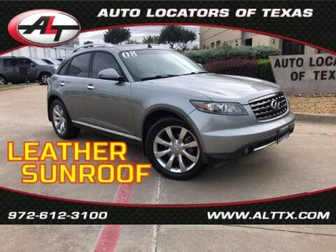 2008 Infiniti FX35 for sale at AUTO LOCATORS OF TEXAS in Plano TX