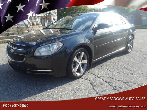 2011 Chevrolet Malibu for sale at GREAT MEADOWS AUTO SALES in Great Meadows NJ