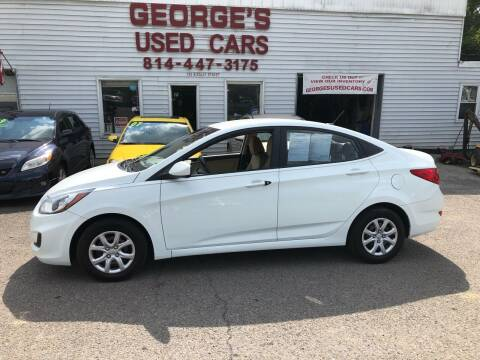 2013 Hyundai Accent for sale at George's Used Cars Inc in Orbisonia PA
