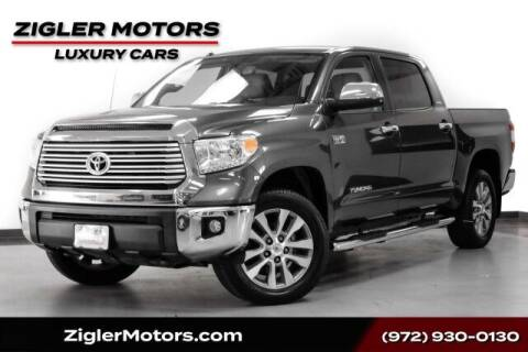 2017 Toyota Tundra for sale at Zigler Motors in Addison TX