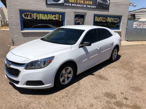 2015 Chevrolet Malibu for sale at Advantage Motorsports Plus in Phoenix AZ