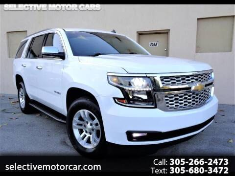 2015 Chevrolet Tahoe for sale at Selective Motor Cars in Miami FL