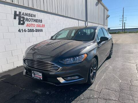 2018 Ford Fusion for sale at HANSEN BROTHERS AUTO SALES in Milwaukee WI