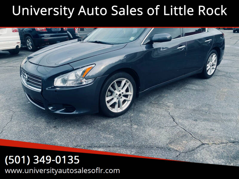 2010 Nissan Maxima for sale at University Auto Sales of Little Rock in Little Rock AR