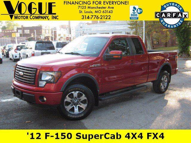 2012 Ford F-150 for sale at Vogue Motor Company Inc in Saint Louis MO