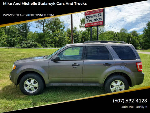 2012 Ford Escape for sale at Mike and Michelle Stolarcyk Cars and Trucks in Whitney Point NY