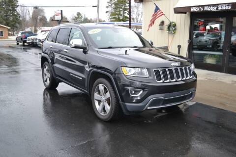 2015 Jeep Grand Cherokee for sale at Nick's Motor Sales LLC in Kalkaska MI