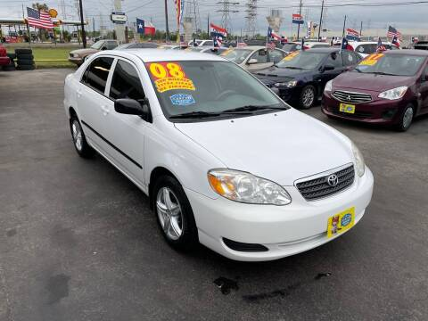2008 Toyota Corolla for sale at Texas 1 Auto Finance in Kemah TX