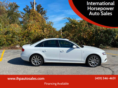 2012 Audi A4 for sale at International Horsepower Auto Sales in Warwick RI