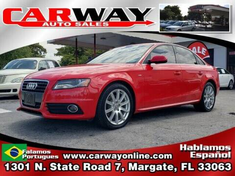 2012 Audi A4 for sale at CARWAY Auto Sales in Margate FL