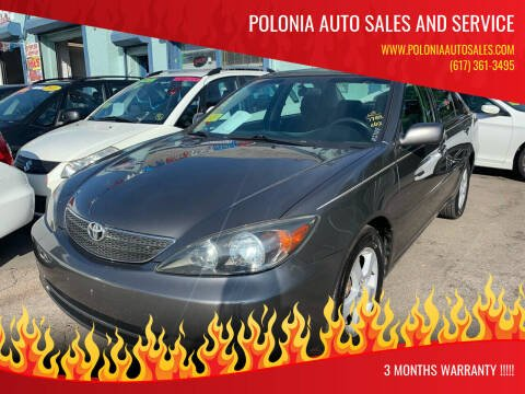2003 Toyota Camry for sale at Polonia Auto Sales and Service in Hyde Park MA