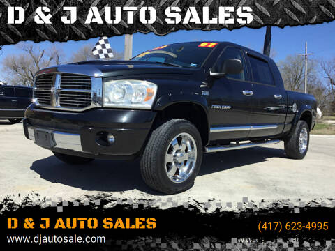 2007 Dodge Ram Pickup 1500 for sale at D & J AUTO SALES in Joplin MO