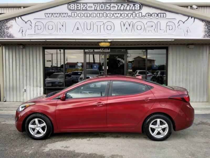 2016 Hyundai Elantra for sale at Don Auto World in Houston TX