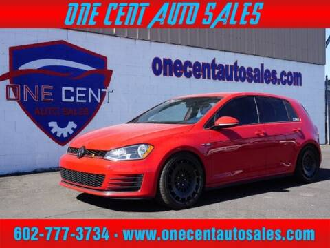 2016 Volkswagen Golf GTI for sale at One Cent Auto Sales in Glendale AZ