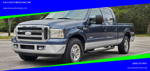 2005 Ford F-250 Super Duty for sale at K & O AUTO WHOLESALE INC in Jacksonville FL