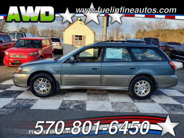 2001 Subaru Outback for sale at FUELIN FINE AUTO SALES INC in Saylorsburg PA