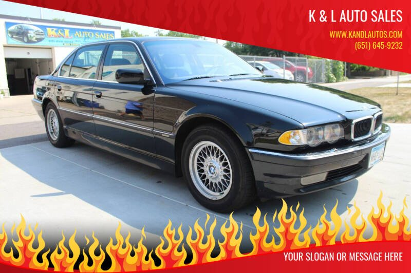 2001 BMW 7 Series for sale at K & L Auto Sales in Saint Paul MN
